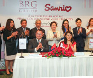 Memorandum of understanding (MOU) signing ceremony between BRG Group and Sanrio wave  for the development of Hello Kitty park in Vietnam
