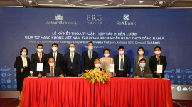 VIETNAM AIRLINES, BRG GROUP AND SEABANK SIGNED A STRATEGIC COORPERATION AGREEMENT